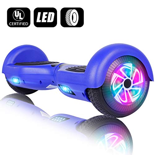 EPCTEK Hoverboard for Kids with Bluetooth Speaker, 6.5″ Two Wheel Electric Hover Board (Mix Color)