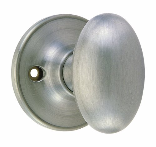 Design House 750620 Egg  Dummy Knob, Reversible for Left or Right Handed Doors, Satin Nickel (Design House Egg Knob Satin)