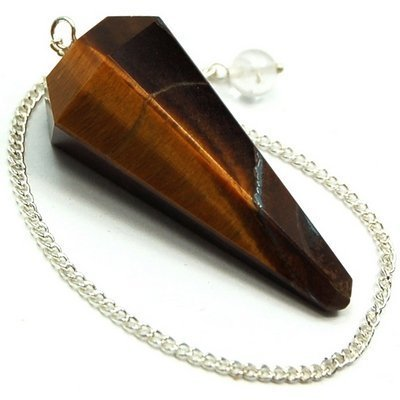 golden-tiger-eye-6-facet-pendulums-1-1-1-2-faceted-top-w-clear-quartz-bead-1pc-1pc-by-healing-crysta