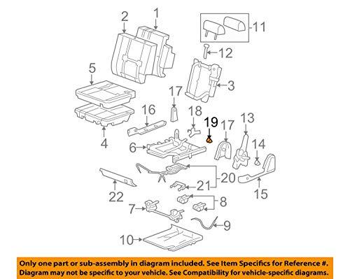 10-14 GM Trucks & SUVs Rear Seat Back Release Knob Switch OEM ()