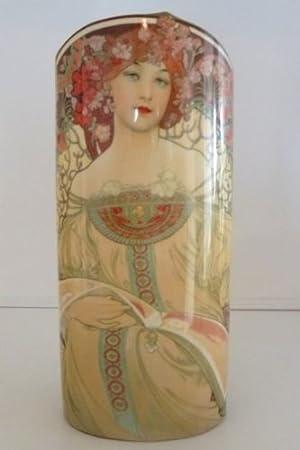 John Beswick Mucha Reverie Art Nouveau Ceramic Art Vase 23cms Height