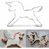 2 Pcs/Unicorn Horse Cookies Cutter Mold Cake Decorating Biscuit Pastry Baking Mould