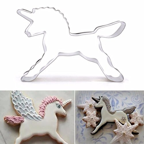 2 Pcs/Unicorn Horse Cookies Cutter Mold Cake Decorating Biscuit Pastry Baking (Halloween Biscuit Decorating Ideas)
