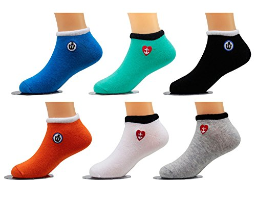Price comparison product image Mmiao Little Kids' 5 Pack Low Cut Socks (6-9)t