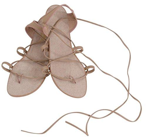 Sandalo Da Danza Danshuz In Pelle Marrone Chiaro