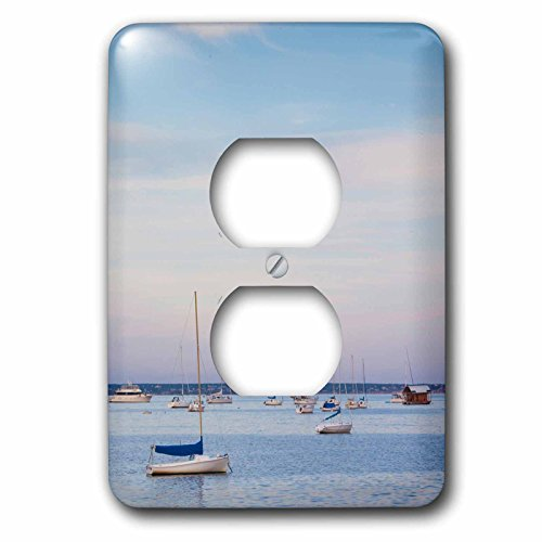 Danita Delimont - Massachusetts - Massachusetts, Cape Cod, The West End, boats - Light Switch Covers - 2 plug outlet cover (lsp_230917_6)