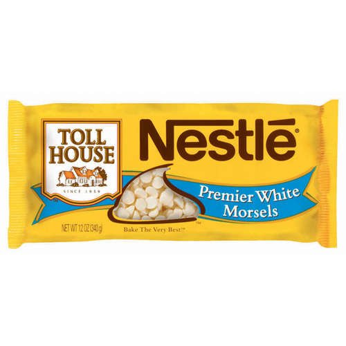 Nestle, Toll House, Premier White Morsels, 12oz Bag (Pack of 6)