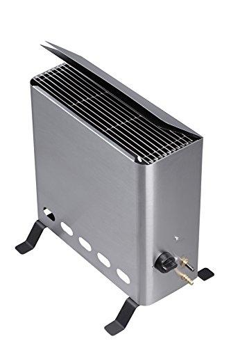 Tepro Gewächshausheizer mit Thermostat Gasheizgerät, 4,2 kW, Silber
