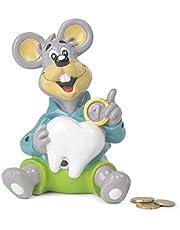 Tirelire enfant de la petite souris - Tirelire fille et garcon, en tissu Poliresina, ne se brise pas, 17 cm. tirelire enfant billets et pièces