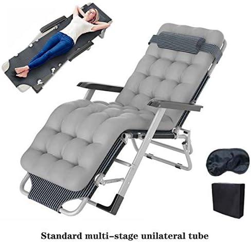 FOLVXY Zero Gravity Chaise d'extérieur, Zero Gravity Recliners Sun Lounger Chaises de Jardin avec l'original Oreiller, Masque pour Les Yeux et Sac à poussière |