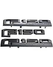 3 stks F150 Platinum Emblemen, Auto Driver Fender Achterklep Zijdes 3D Naamplaat Badge Stickers Stickers Vervanging voor Ford F-150 (Zwart)