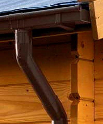 Dachrinne KASTENFORM Rinnensatz Regenrinne 1x500cm Komplett-Set mit wählbaren Farben (Braun)