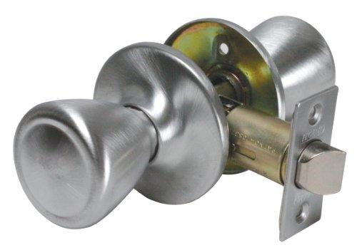 (Legend 809027 Tulip Style Door Knob Hall and Closet Passage Lockset, US27 Brushed Aluminum Finish)