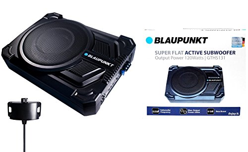 "BLAUPUNKT GTHS131 200W 8"" CAR UNDER SEAT SUPER SLIM POWERED SUBWOOFER ENCLOSED"
