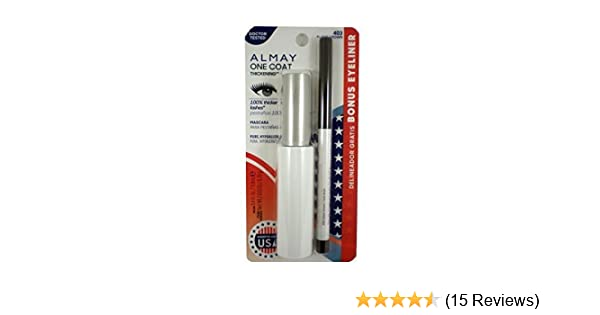 b16f0ac88ff Amazon.com : Almay One Coat Mascara Black Brown 403 Bonus Eyeliner : Beauty