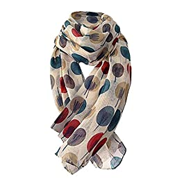 BaojunHT Women Style Accessories Lotus Printing Scarves Long Elegant Wrap Ladies Shawl (180 cm x 90cm, Multicolor)