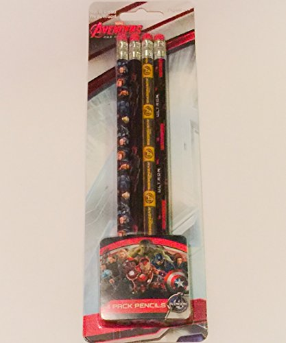 Marvel Avengers 4 Pack No. 2 Lead Real Wood Pencils (Age Of (Avenger 2 Characters)