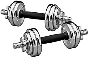 15 Kg Set Chrome Dumbbells