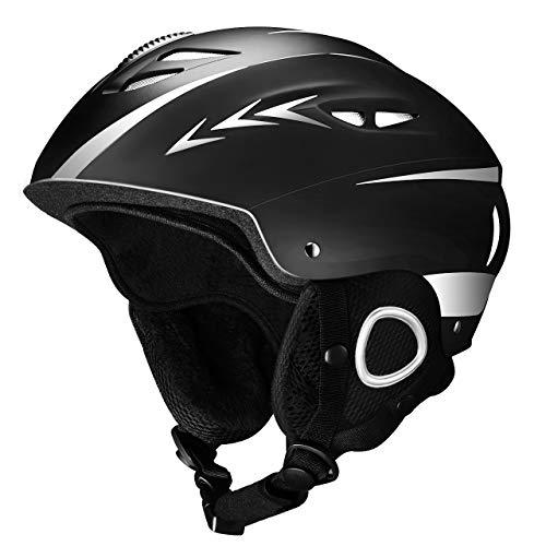Mpow Ski Helmet, Snow Helmet with Air Flow Control, Snowboard Helmet with Removable Lining, Bike Skate Sport Helmet for Men Women [Medium]