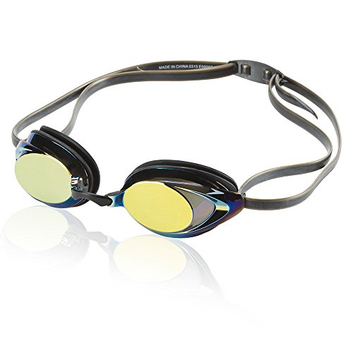Speedo Vanquisher 2.0 Mirrored Swim Goggle, Deep/Gold, One Size