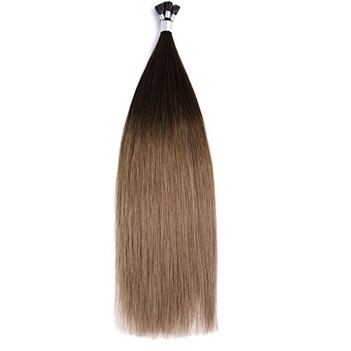 "Price comparison product image Ty.Hermenlisa 22"" Silky Straight Micro Rings Hair Extensions 100% Real Virgin Remy Human Hair Fusion Stick I Tip Extensions,  50strands / Pack,  35g,  Light Golden Brown Blonde( T402.404.18)"
