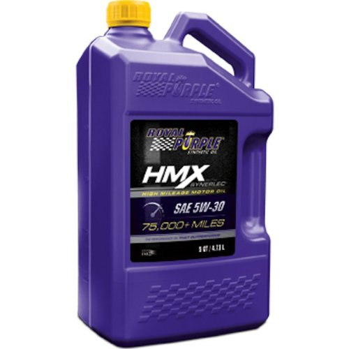 Royal Purple (11749-3PK) HMX SAE 5W-30 High-Mileage Synthetic Motor Oil - 5 Quart, (Case of 3)