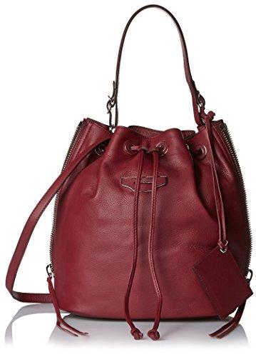 Balenciaga Women's Drawstring Cross-Body Bag, Burgundy
