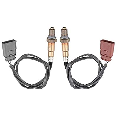 MOSTPLUS 250-24431, 234-4808 O2 Oxygen Sensor Front Rear UP/Down Stream for VW Beetle Golf Jetta Audi TT 16121 SG1170 (Set of 2): Automotive