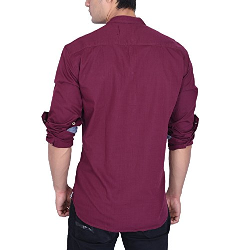 Roller Fashions Men's Slim Fit Mandarin Collar Shirt