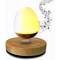 E-18th LED Levitating Bluetooth Speaker Magnetic Levitation Suspension Portable Soft LED Light Wireless Speaker for Display Decoration New Year Present