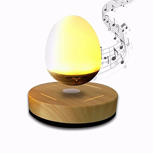 E-18th High Technology LED Levitating Bluetooth Speaker Magnetic Levitation Suspension Portable Soft LED Light Wireless Speaker for Party Family by E-18th