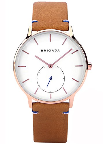 Rose Gold Minimalist Men's Business Casual Wrist Quartz Watch Swiss Brand Waterproof Leather Band Watches for Men