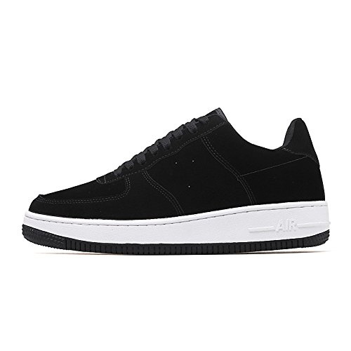 UK5-5.5 EU38 DIMAOLV Mens Shoes Leather Spring Fall Comfort Sneakers for Casual White Black Yellow Brown Burgundy,Black,US6-6.5 CN38