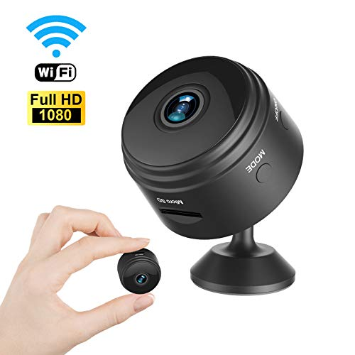 Mini Spy Camera Wireless Hidden Home WiFi Security Cameras with App, Latest Wireless WiFi HD 1080P Camera Cam with Night Vision and Motion Detective, Black