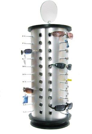 Yudu - Espositore per 44 paia d'occhiali, con specchio