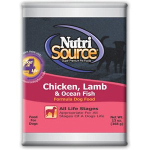 NutriSource Chicken, Lamb & Ocean Fish Canned Dog Food