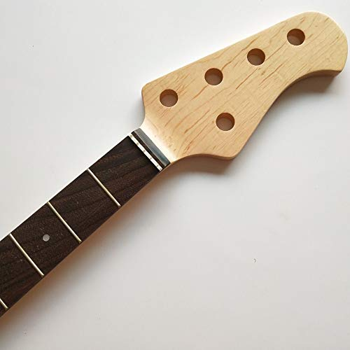 Canadian maple bass neck 21 fret 5 string for bass style replacement part rosewood fingerboard gloss finish