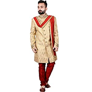 Men's Velvet stole for groom/dupatta for dulha/sherwani stole/CHUNNI RED For Weeding and Religious Occastion