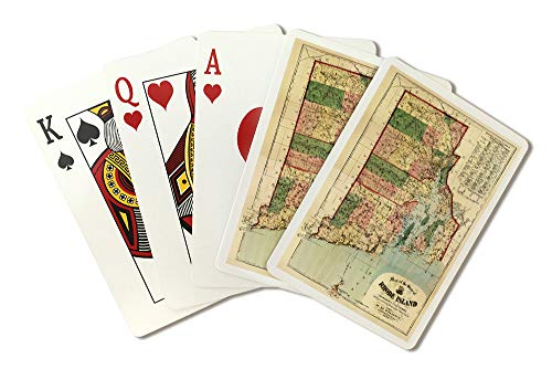 Rhode Island - (1880) - Panoramic Map (Playing Card Deck - 52 Card Poker Size with Jokers)