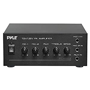 pyle pcm20a 40 watts power amplifier with 25 and 70 volt output home audio theater. Black Bedroom Furniture Sets. Home Design Ideas