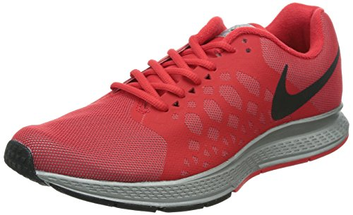 Nike Mens Zoom Pegasus 31 Scarpa Da Corsa Flash Riflette Argento / Nero / Rosso Actn
