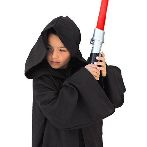 [Child Sith Jedi Robe Cloak Black Brown (Medium (42] (Luke Skywalker Costume Black Kids)