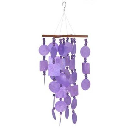 Woodstock Percussion Woodstock Purple Capiz Chime with Wood Beads- Asli Arts Collection