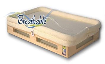 Secure Beginnings Mini Breathable Crib Mattress, Natural/Ivory