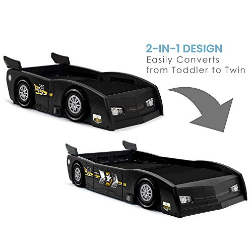 Delta Children Grand Prix Race Car Toddler & Twin Bed, Black