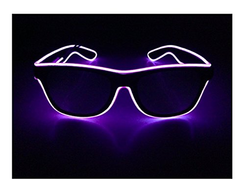 [Purple Square wire glasses N Light up glasses Perfect for your Halloween Party Christmas Music Festival Rave Parties Gifts, Fashion , Limited Collection A Night Out! Slow Blinking Fast] (Light Up Black Tutu)