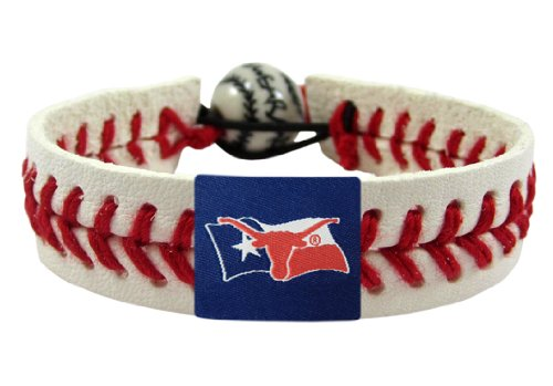 NCAA Texas Longhorns Flag Classic Baseball Bracelet (Classic Texas Flag)