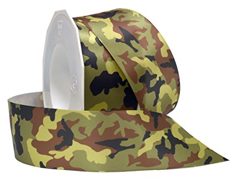 Morex Ribbon Camo Double Face Satin Fabric Ribbon
