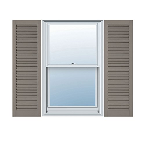 Ekena Millwork LL6C18X07300CL Custom Straight Top All Louver, Open LouverShutter (Per Pair)18