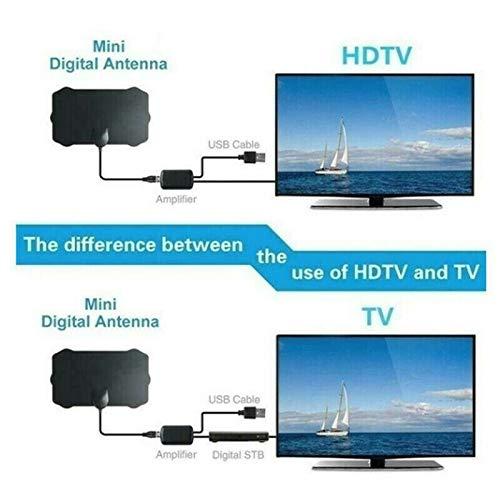 TOOGOO Antenna Da 960 Miglia TV Digitale HD HDTV 1080P 4K Digitale Da Interno